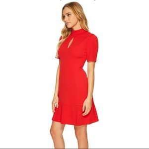 NEW Donna Morgan Crepe Dress Red Sz 10 NWT